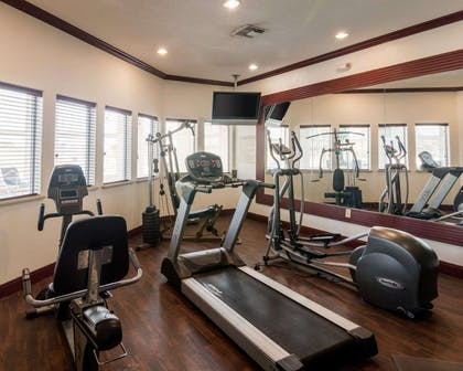 Exercise room with television   Comfort Suites Gainesville
