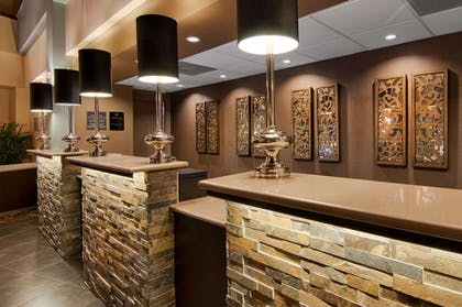 Front desk with friendly staff | Copeland Tower Suites, an Ascend Hotel Collection Member