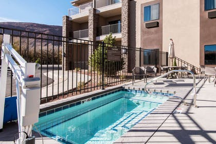 Relax by the pool | MainStay Suites Moab near Arches National Park