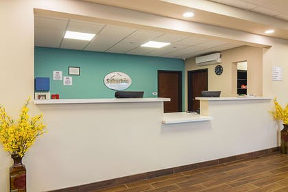 Front desk with friendly staff | Suburban Extended Stay Hotel