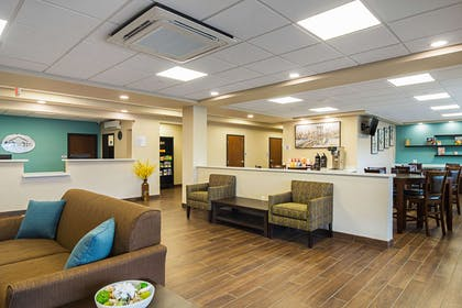 Spacious lobby with sitting area | Suburban Extended Stay Hotel