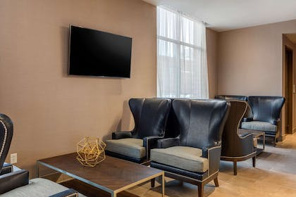 Lobby with sitting area | Cambria Hotel Omaha Downtown