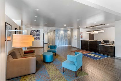 Spacious lobby with sitting area | MainStay Suites Denver International Airport