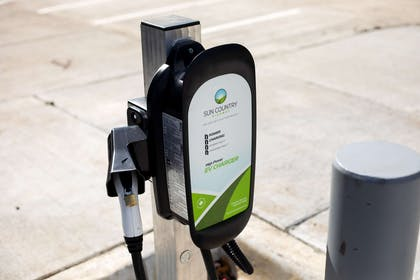 Electric car charging station on property | Best Western Plus West Lawrence