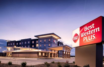 Best Western Plus West Lawrence Exterior with Sign | Best Western Plus West Lawrence