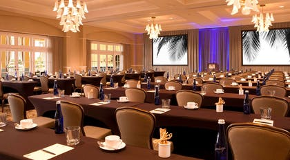 Vanderbilt Ballroom Classroom setup | LaPlaya Beach & Golf Resort - A Noble House Resort