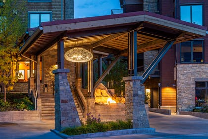 Hotel Terra Entrance | Hotel Terra Jackson Hole - A Noble House Resort