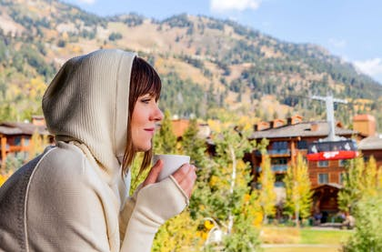 Suite Balcony Tram View | Hotel Terra Jackson Hole - A Noble House Resort
