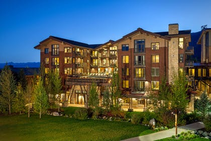 Hotel Terra at Dusk | Hotel Terra Jackson Hole - A Noble House Resort