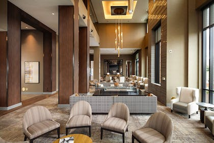 Lobby | Embassy Suites by Hilton South Bend at Notre Dame