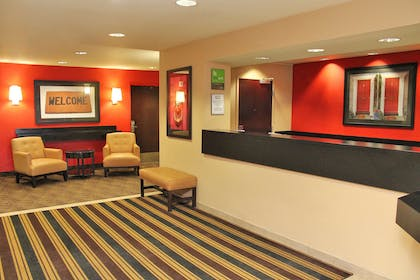 Lobby and Guest Check-in | Extended Stay America - Los Angeles - Chino Valley