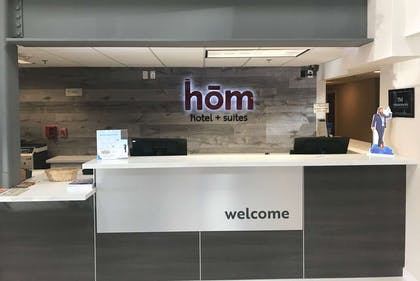 Lobby | hom hotel + suites, Trademark Collection by Wyndham