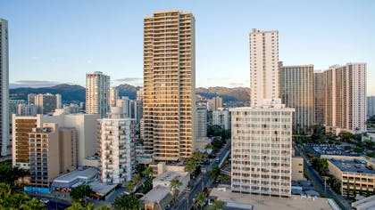 The Residences at Waikiki Beach Tower - Aerial | Aston Waikiki Beach Tower