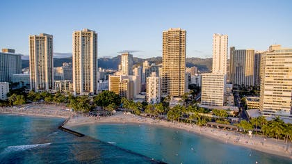 Aston Waikiki Beach Tower - Aerial | Aston Waikiki Beach Hotel