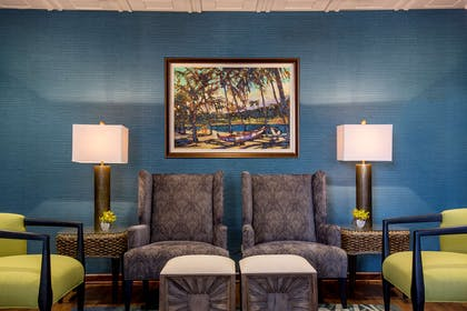 The Residences at Waikiki Beach Tower - Hospitality Room Seating Vignette | Aston Waikiki Beach Tower