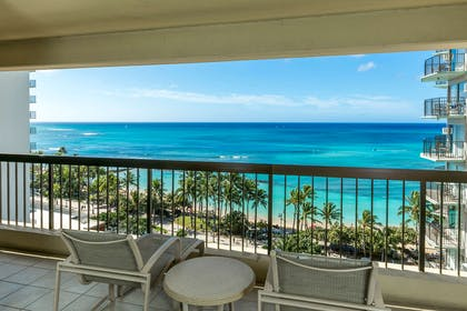 Aston Waikiki Beach Tower - 2 Bedroom Ocean View Lanai | Aston Waikiki Beach Hotel