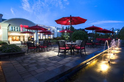 Patio Facing Entrance At Dusk at Westminster Hotel | Westminster Hotel