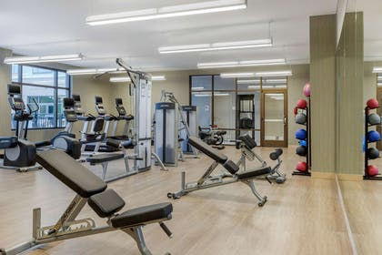 Exercise room with cardio equipment   Cambria Hotel Charleston Riverview