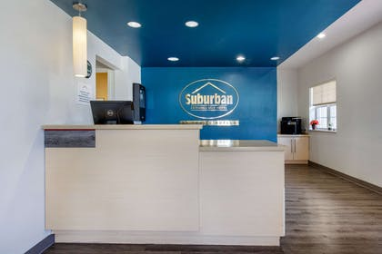 Front desk with friendly staff | Suburban Extended Stay Hotel Birmingham Homewood I-65