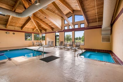 Indoor pool with hot tub   Quality Inn & Suites Lawrence - University Area