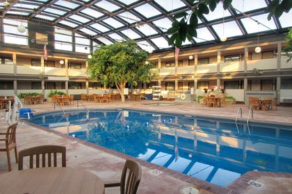 Indoor pool with hot tub   Clarion Inn