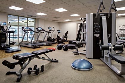 Health club fitness center gym | DoubleTree by Hilton Fairfield Hotel & Suites