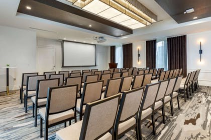 Banquet meeting room with audiovisual equipment | Cambria Hotel Houston Downtown Convention Center