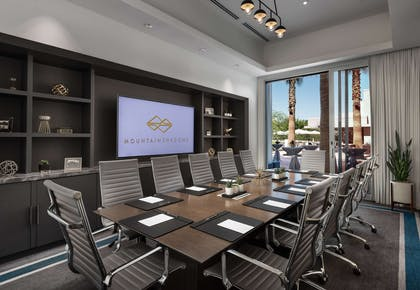 Cholla Boardroom With Screen | Mountain Shadows