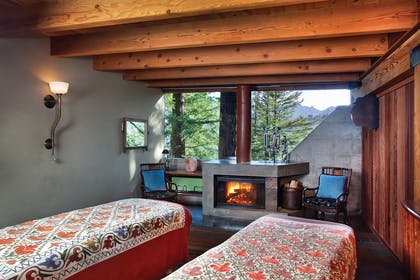Spa Couple Fireplace Room | Post Ranch Inn