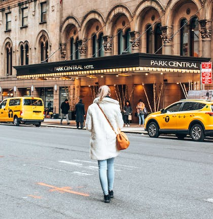 Park Central Exterior with Iconic Yellow Cabs | Park Central New York