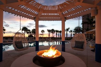 Sirata Beach Resort North Pool Fire Pit Seven | Sirata Beach Resort