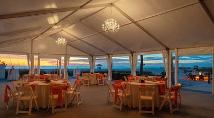Sirata Beach Resort Banquet Tent Dusk Angle | Sirata Beach Resort