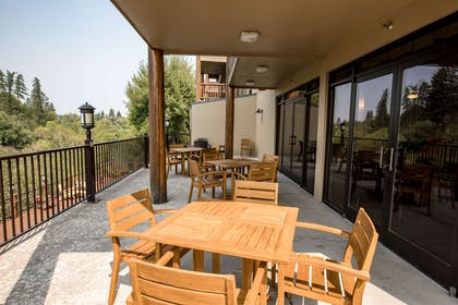 Patio area | The Pine Lodge on Whitefish River, Ascend Hotel Collection