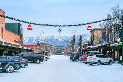 Downtown Whitefish in the winter | The Pine Lodge on Whitefish River, Ascend Hotel Collection
