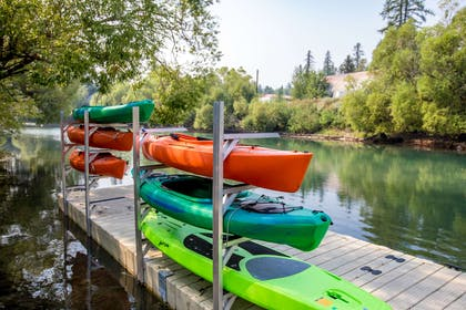 Enjoy kayaking | The Pine Lodge on Whitefish River, Ascend Hotel Collection