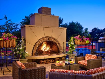 Exterior Chase Club Fire Pit | The Chase Park Plaza Royal Sonesta St. Louis