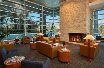 Penn Stater Lobby Fireplace x | The Penn Stater Hotel and Conference Center