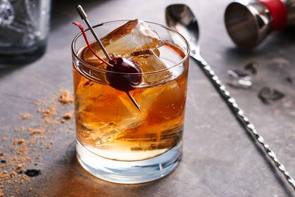 black cherry old fashioned | Courtyard by Marriott Charlotte University Research Park
