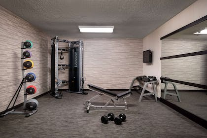 fitness center free weights | Courtyard by Marriott Charlotte University Research Park