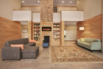 Lobby with Fireplace | Country Inn & Suites by Radisson, Bowling Green, KY