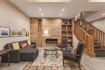 Lounge with Fireplace | Country Inn & Suites by Radisson, Homewood, AL