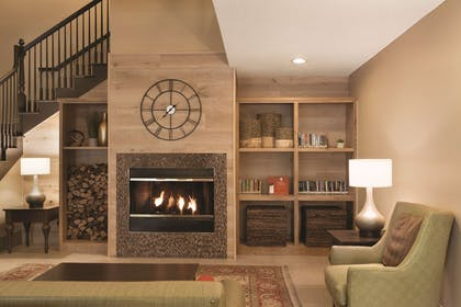 Lobby with Fireplace | Country Inn & Suites by Radisson, Indianapolis Airport South, IN