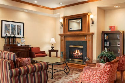 Lobby Living Room with Fireplace | Country Inn & Suites by Radisson, Paducah, KY