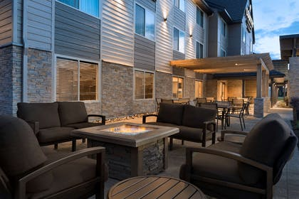Outdoor Fireplace | Country Inn & Suites by Radisson, St. Cloud West, MN