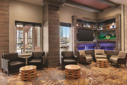 Lobby with Fireplace | Country Inn & Suites by Radisson, Newark Airport, NJ