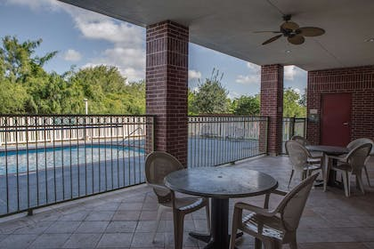 Patio & Pool | Country Inn & Suites by Radisson, Harlingen, TX