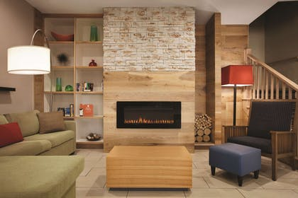 Lobby with Fireplace | Country Inn & Suites by Radisson, Washington, D.C. East - Capitol Heig