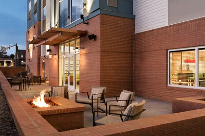 Patio with Fireplace   Country Inn & Suites by Radisson, Charlottesville-UVA, VA