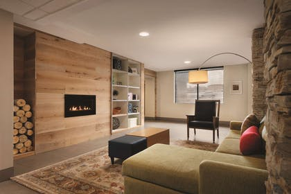 Living Room With Fireplace | Country Inn & Suites by Radisson, Erlanger, KY - Cincinnati Airport