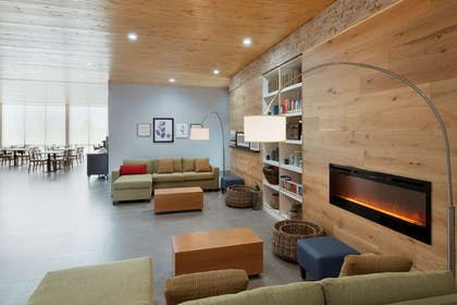 Lobby with Fireplace | Country Inn & Suites by Radisson, Katy (Houston West), TX